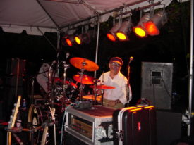 Billy Rosenthal on drums