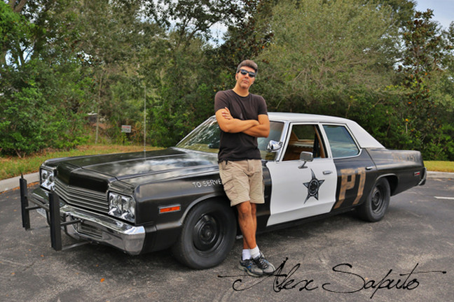 Joe's authentic 1974 Dodge Monaco Blues Brothers movie car.
