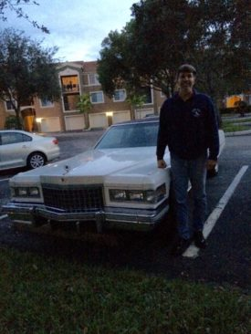 Joe and his 1976 Cadillac Coupe deVille